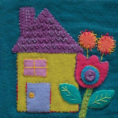 Wool Applique Pack House-1