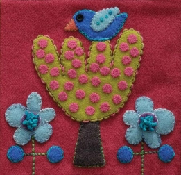 Wool Applique Pack Bird and Tree-1