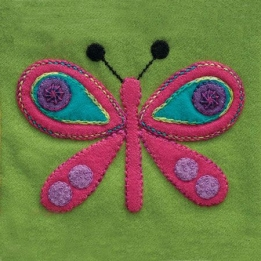 Wool Applique Pack Butterfly-2
