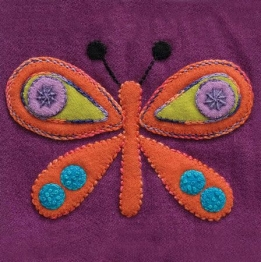 Wool Applique Pack Butterfly-4