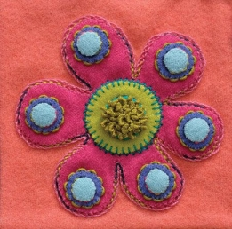 Wool Applique Pack Flower-1