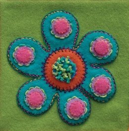Wool Applique Pack Flower-3
