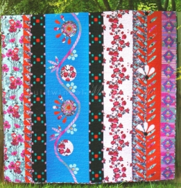 Traveling Blooms Quilt Kit